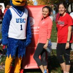 UBC Thunderbird makes some new friends