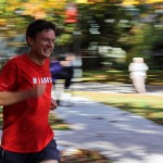 Applied Science's new dean smiles as he passes the finish line